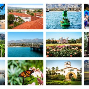 The American Riviera – Postcard Set of 12 with Engraved Bamboo Pen