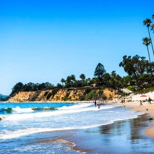 Butterfly Beach, Santa Barbara – postcard