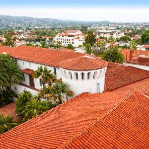 Santa Barbara County Courthouse View – postcard