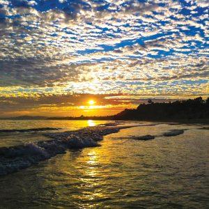 Sunset in Santa Barbara – postcard