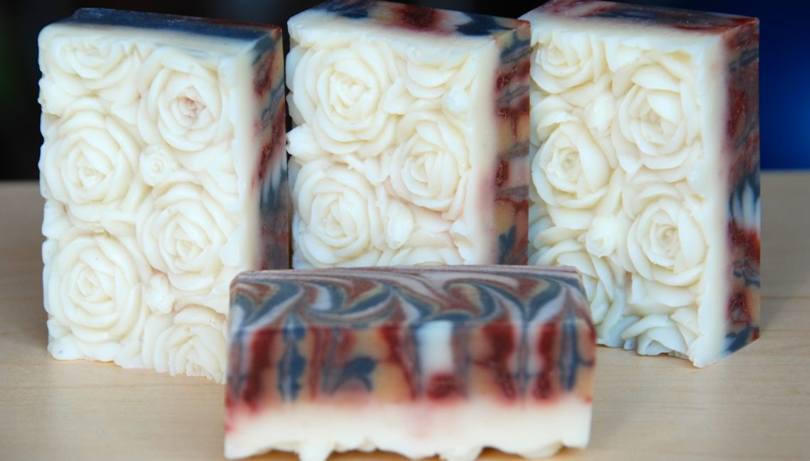 Indian Summer Peacock Swirl Soap - Love from Santa Barbara