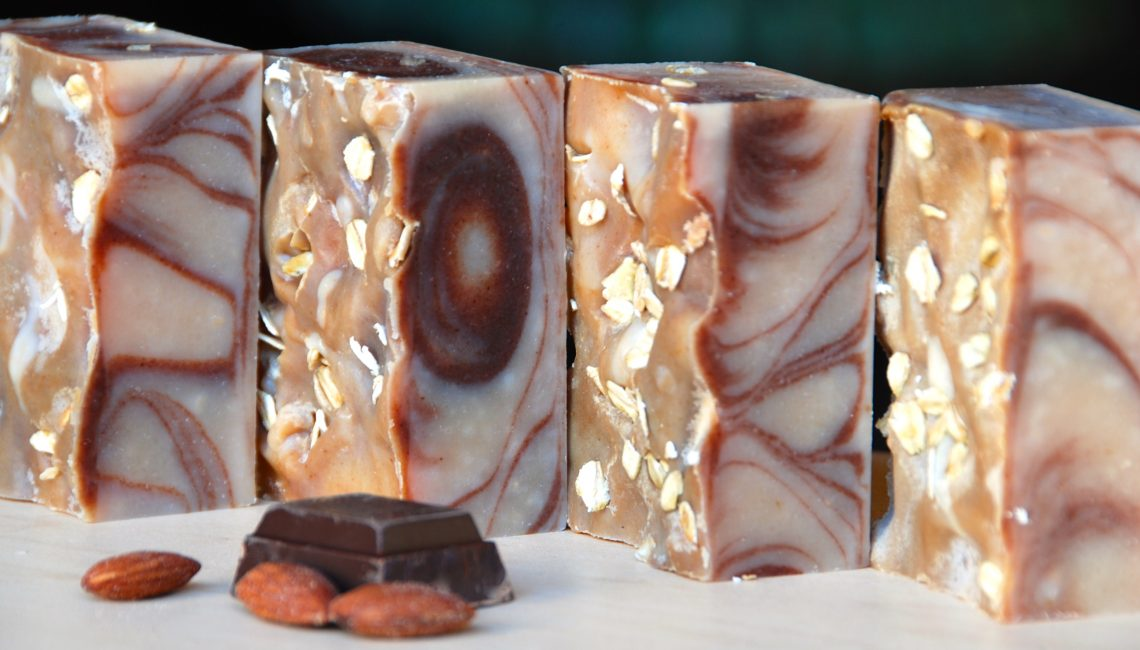 Almond Cocoa Goat's Milk Soap - Love from Santa Barbara