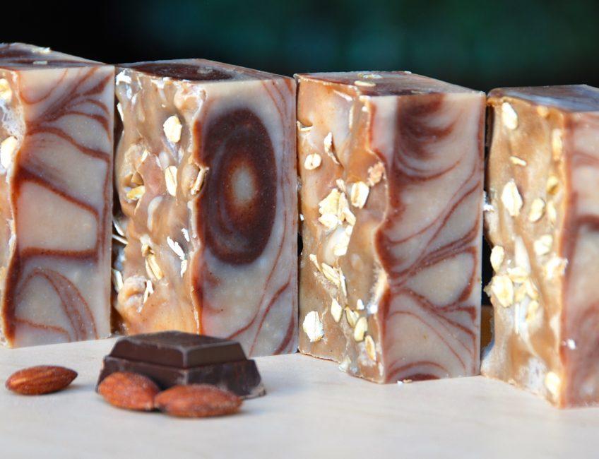 Almond Cocoa Goat's Milk Soap - Love from Santa Barbara