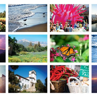 Quintessential Santa Barbara – greeting card set of 12 with engraved bamboo pen