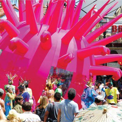 Santa Barbara Summer Solstice Parade – Greeting Card