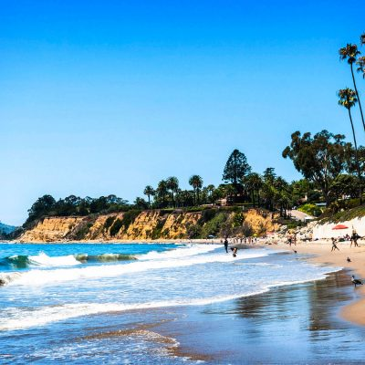Butterfly Beach, Santa Barbara – postcard