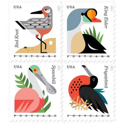 Forever postcard postage stamps