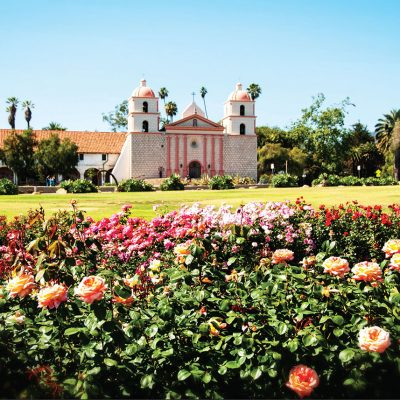 Mission Santa Barbara and Mission Rose Garden – Greeting Card