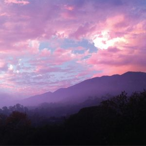 Sunset in the Foothills, Santa Barbara – Greeting Card