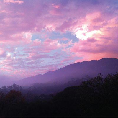 Sunset in the Foothills, Santa Barbara – Greeting Card
