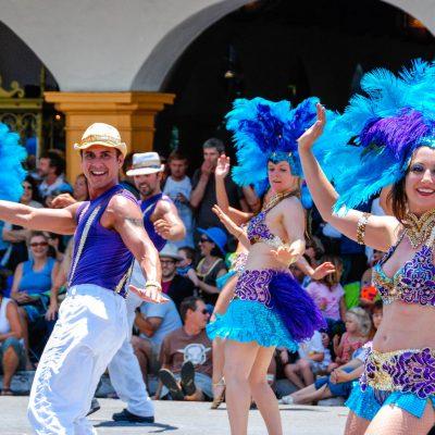 Santa Barbara Summer Solstice Parade – postcard