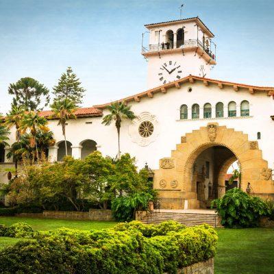 Santa Barbara Courthouse Sunken Gardens – postcard
