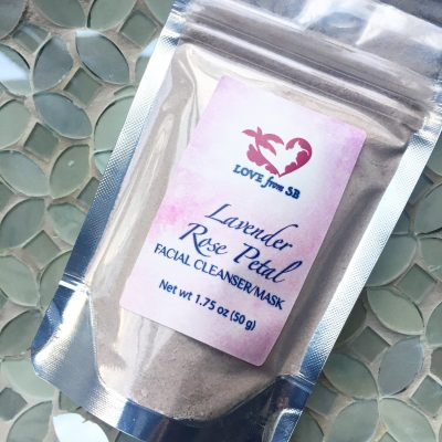 Lavender Rose Petal Facial Cleanser/Mask