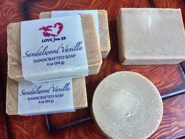 Sandalwood Vanilla Soap - Love from SB