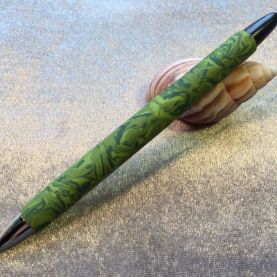 Polymer clay camouflage design Papermate pen
