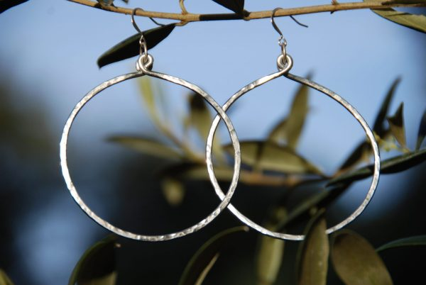 2.375-inch hammered hoops