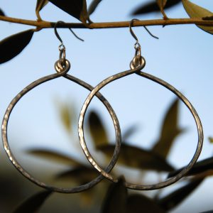 2-inch hammered hoops