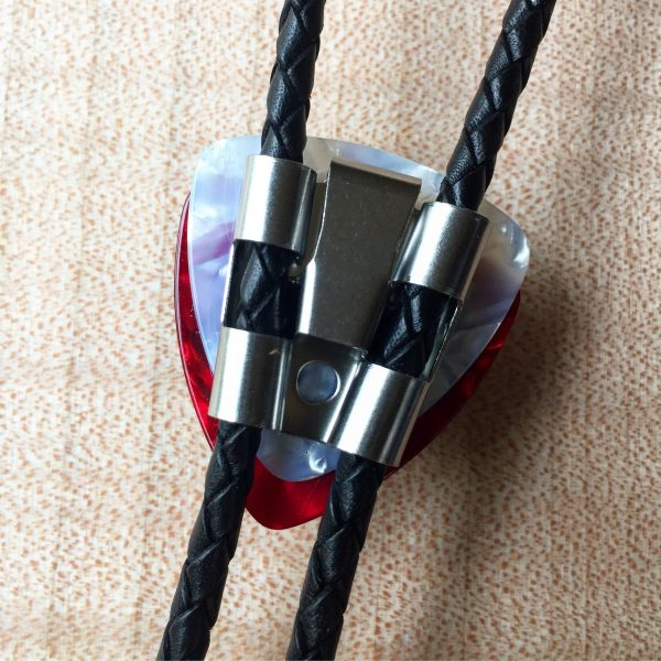 Gibson Knob Bolo Tie - Black / Red
