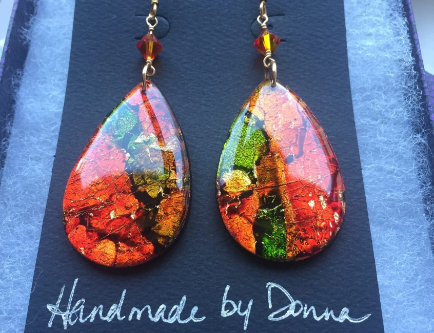 Funk Zone Citrus Teardrop Earrings